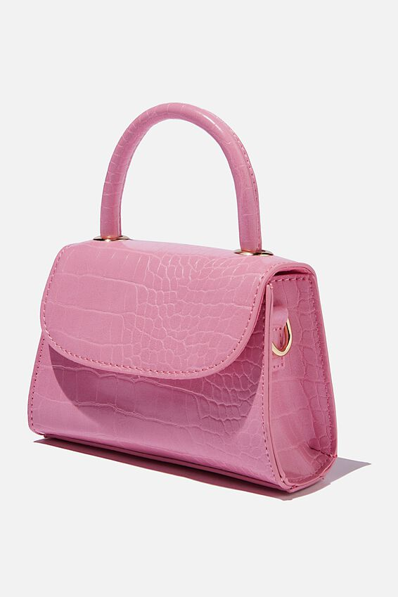 Lola Cross Body Bag, NEON PINK TEXTURE