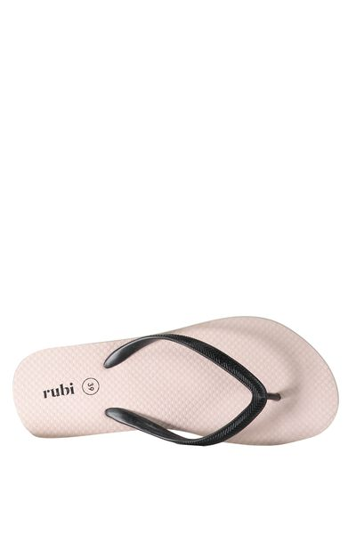 Rubi Thong, BLUSH/BLACK STRAP