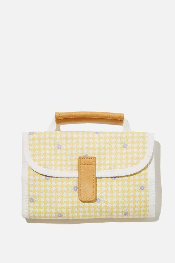 Reusable Lunch Bag, GINGHAM FLORAL