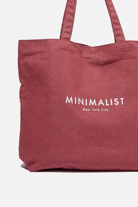 Minimalist Washed Tote, WINE