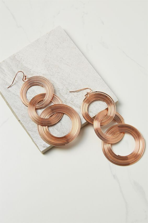 Entwined Metal Earring, ROSE GOLD