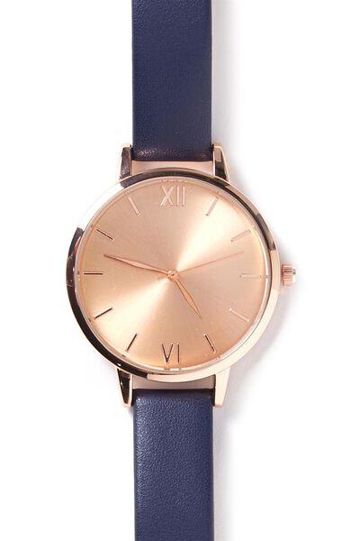 Zodiac Watch, ROSE GOLD/PEACOAT