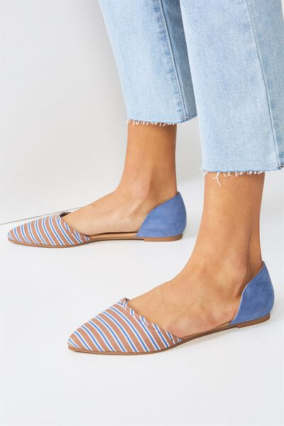 Bobbi Cut Out Point, BLUE MICRO/STRIPE