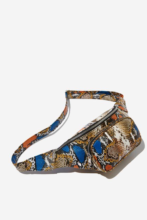 Casey Large Belt Bag, SNAKE MULTI