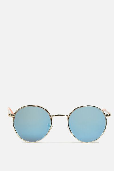 Emmi Metal Frame, GOLD/BLUE