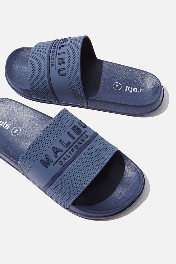 Wild Slide, NAVY MALIBU TEXT