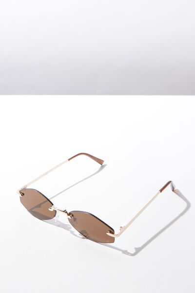 Cruise Sunglass, GOLD/BROWN