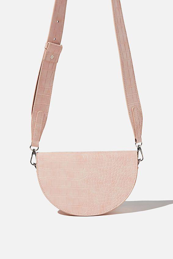 Georgie Cross Body Bag, BLUSH TEXTURE