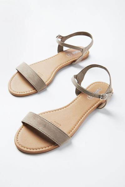 Everyday Thin Strap Sandal, TAUPE MICRO