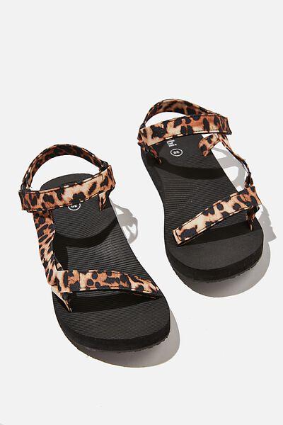 Stormy Sporty Sandal, LEOPARD