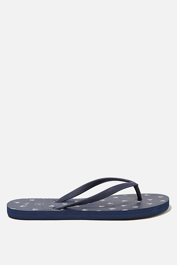The Rubi Flip Flop, LCN DIS NAVY GLITTER MICKEY