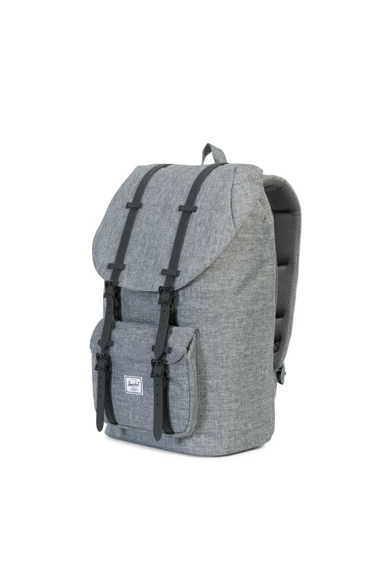 Herschel Little America Backpack, RAVEN CROSSHATCH/BLACK