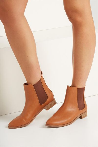 Tanner Gusset Boot, TAN SMOOTH