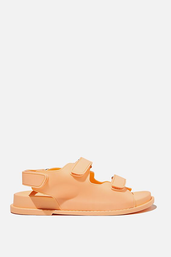 Mimi Moulded Sporty Sandal, PEACH