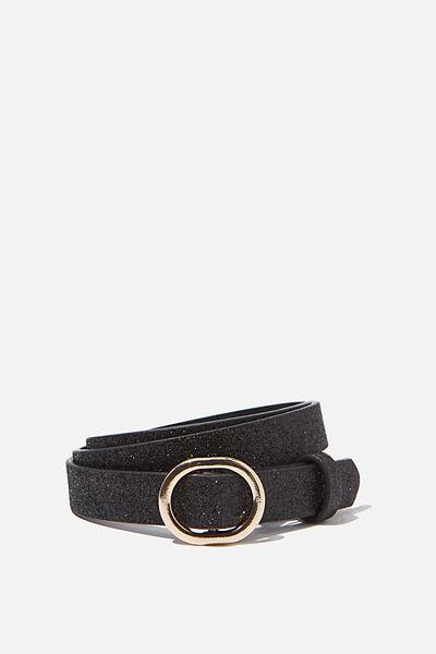 Mila Belt, BLACK GLITTER