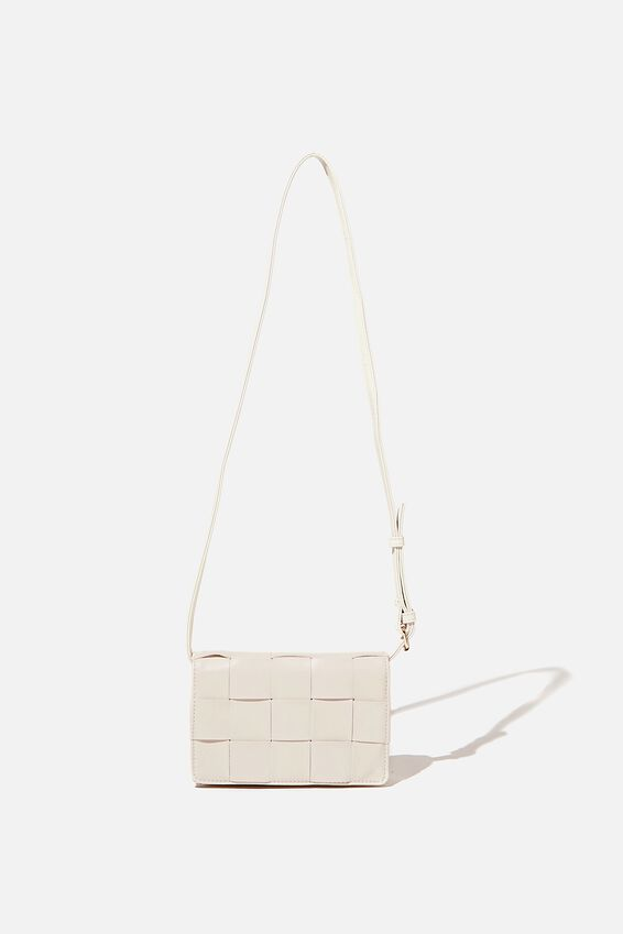 Christy Woven Cross Body Bag, ECRU