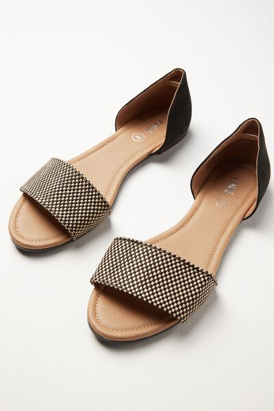 Dixie Peep, BLACK AND TAN WOVEN