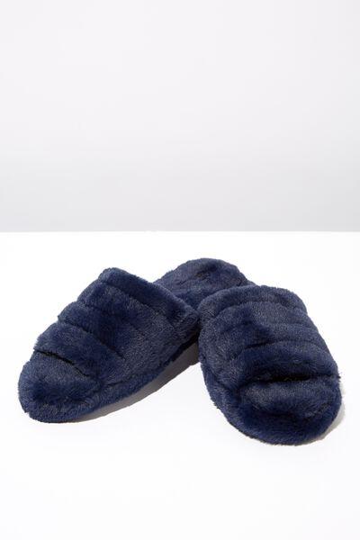 Peep Toe Slipper, NAVY