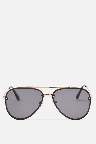 Ariana Aviator Sunglasses, GOLD