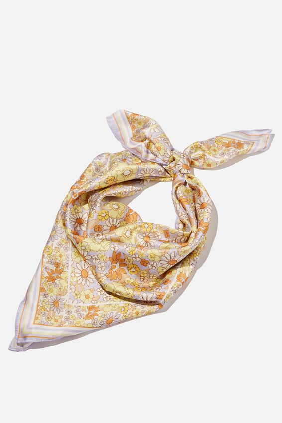 Airlie  Large Headscarf, NEKITA FLORAL WHITE