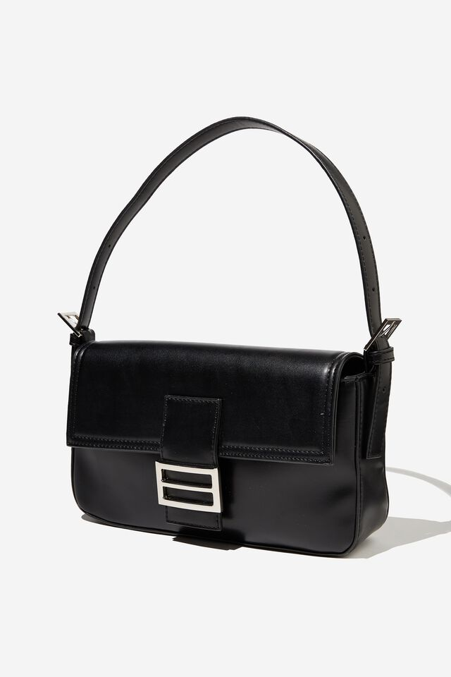 Amy Shoulder Bag, BLACK
