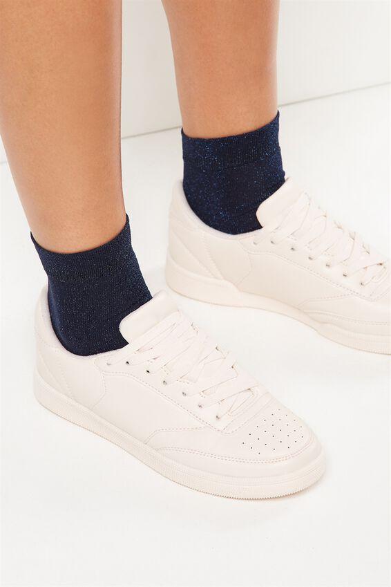 Toto Frill Sparkle Sock, NAVY METALLIC
