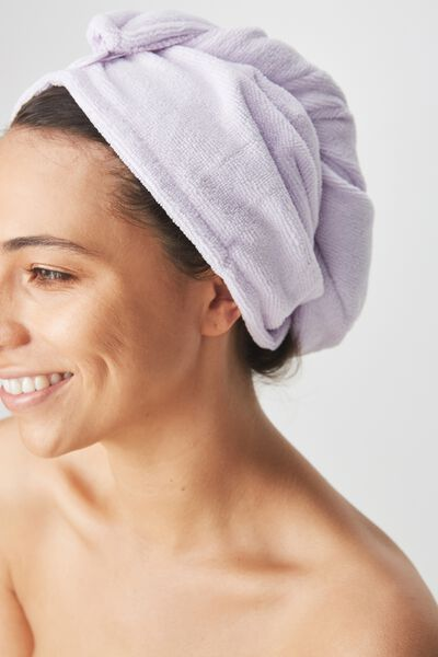 Body Home Spa   Hair Wrap, PASTEL LILAC