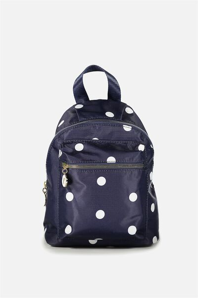 Tiny Traveller Backpack, NAVY SPOT