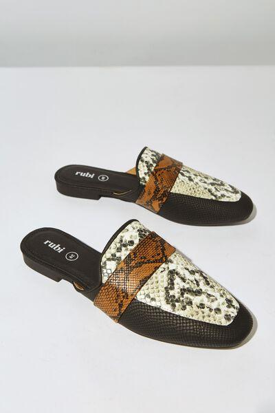 Aish Loafer Mule, NATURAL PRINT MULTI