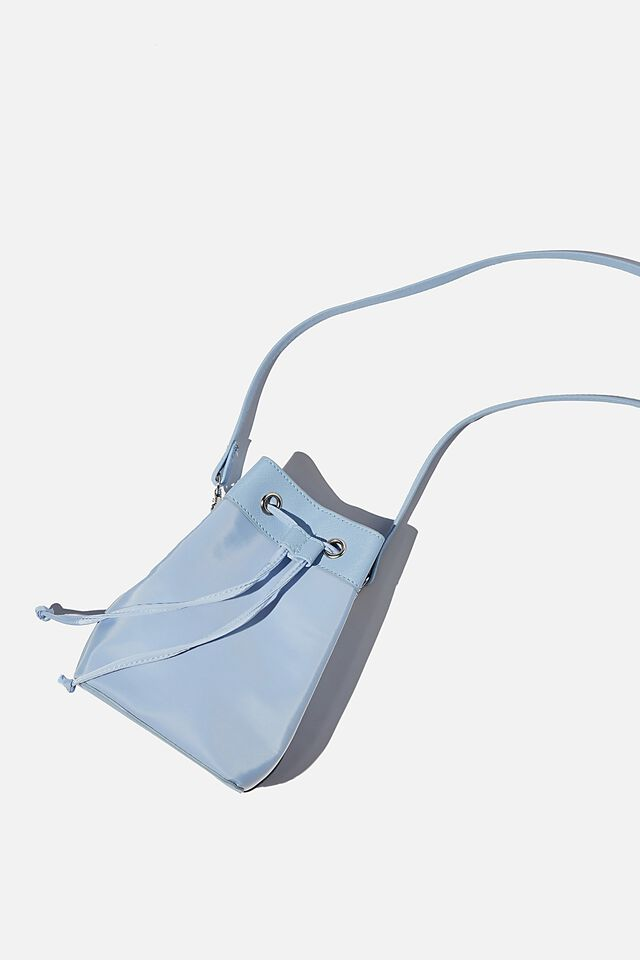 Mini Bucket Bag, SUN FADED DENIM