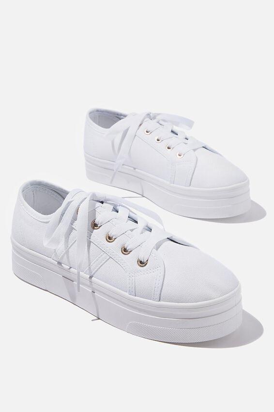 Willow Platform Sneaker Vm, BRIGHT WHITE