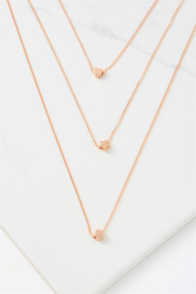 Bailey Necklace, ROSE GOLD