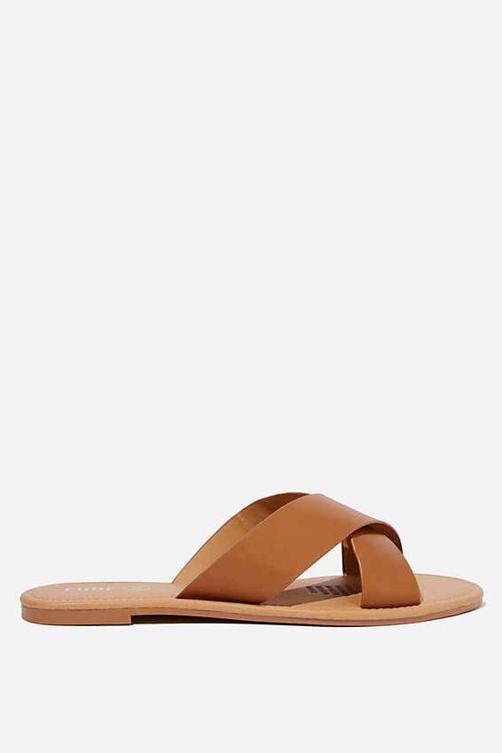 Everyday Scarlett Xover Slide, TAN PU
