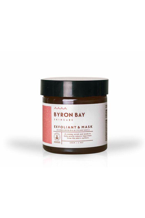 Byron Bay Skincare Exfoliant & Mask, JOJOBA &  LYCHEE
