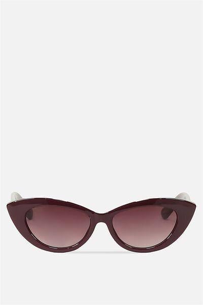 Delilah Cat Eye Sunglasses, WINE