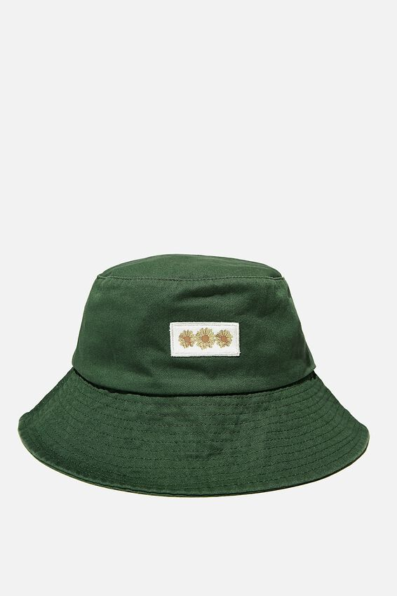 Bianca Bucket Hat, HERITAGE GREEN/SUNFLOWERS