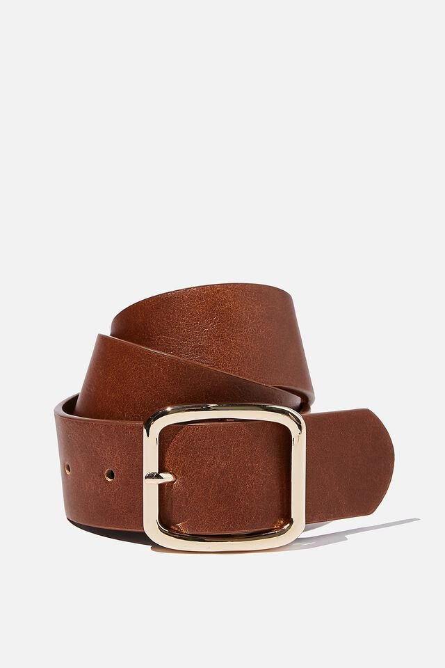 Dad Belt, TAN/GOLD