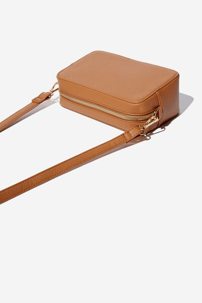 Stevie Boxy Cross Body Bag, TAN