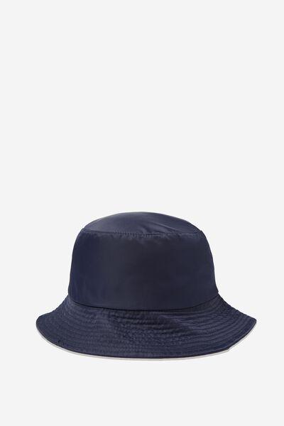 Bella Bucket Hat, NAVY NYLON