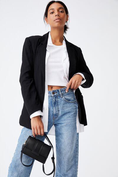 Cindy Cross Body Bag, BLACK