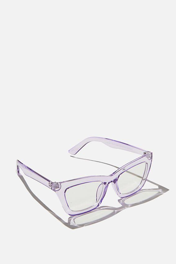 Lyndsey Blue Light Blocking Glasses, LILAC CRYSTAL
