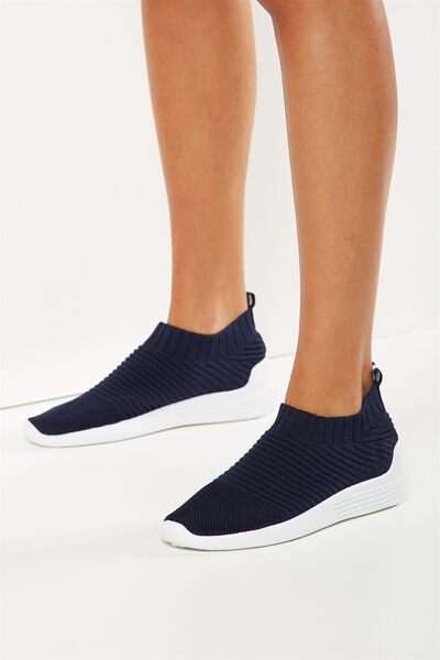 Kara Slip On Trainer, NAVY