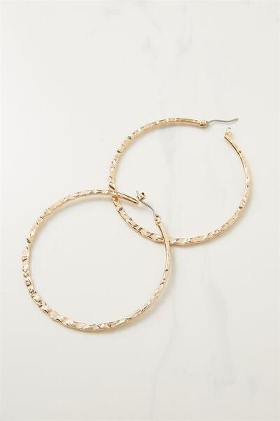 Harper Core Hoop Earring, GOLD