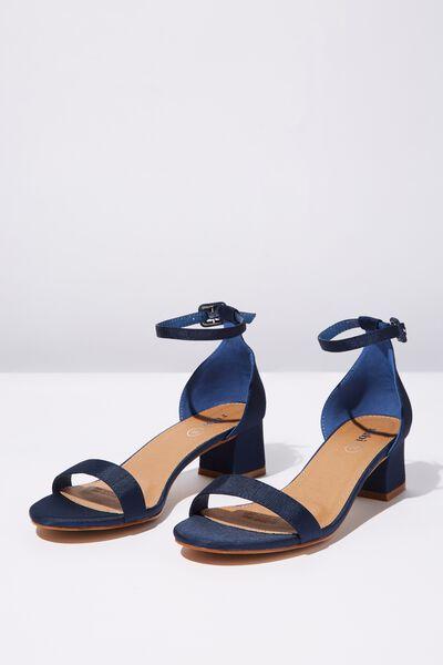 Lola Low Block Heel, NAVY GROGRAIN