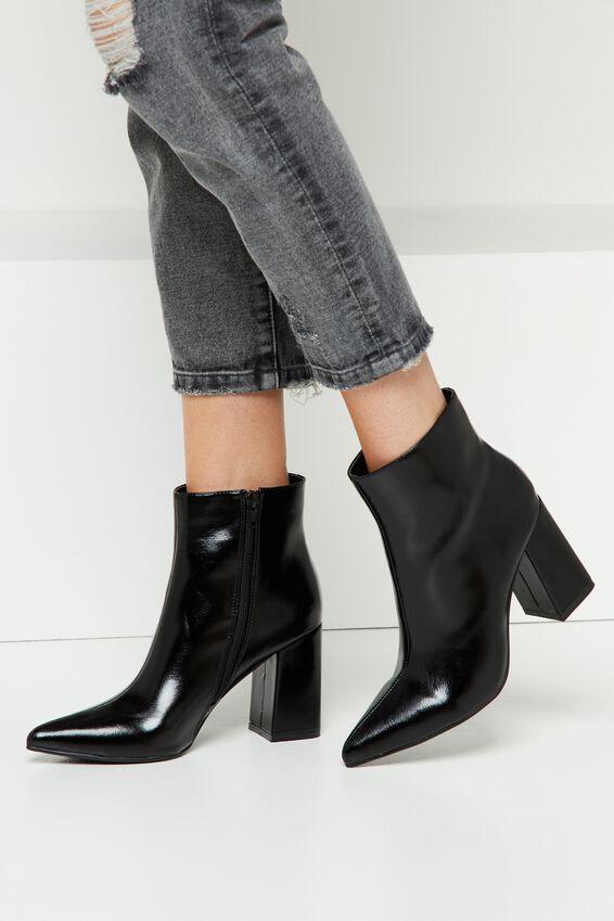 Rubi Shoes Nirvana Flared Heel Boot in Black