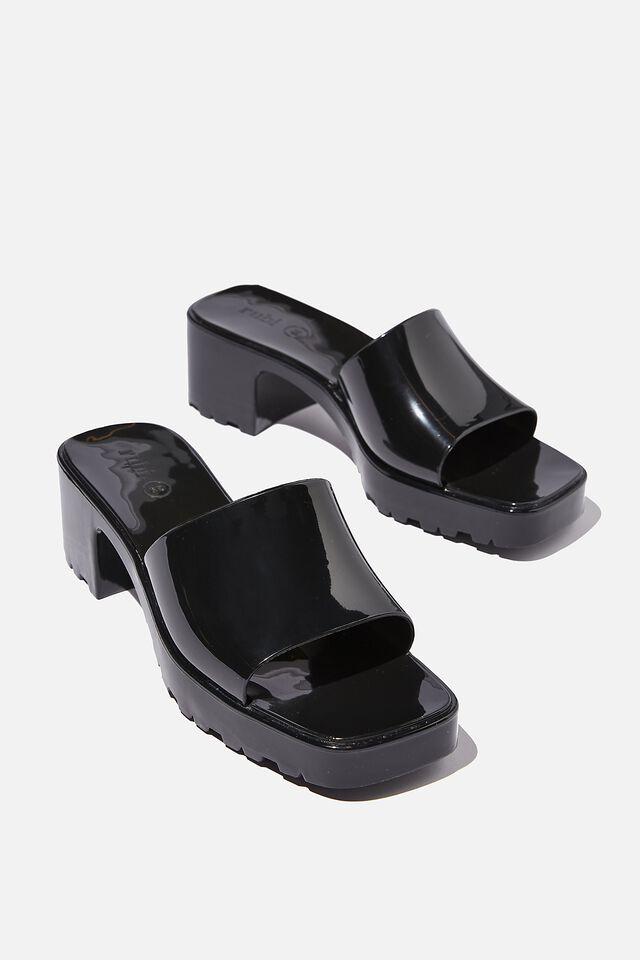 Lani Moulded Heel, BLACK