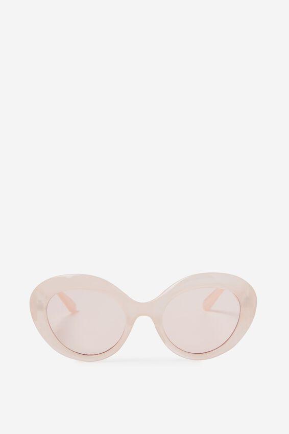 Paris Oval Cat Eye Sunglasses, MILKY PINK