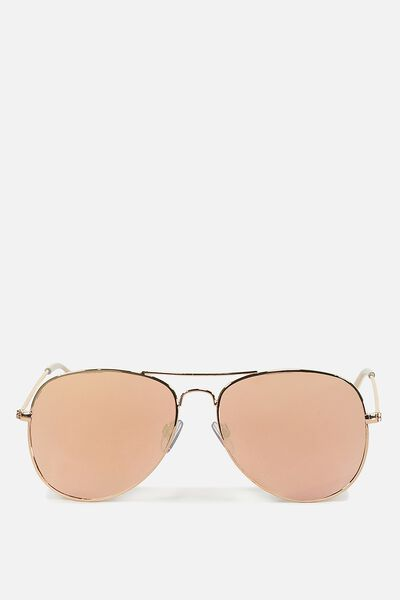Arabella Metal Sunglasses, ROSE GOLD ROSE GOLD