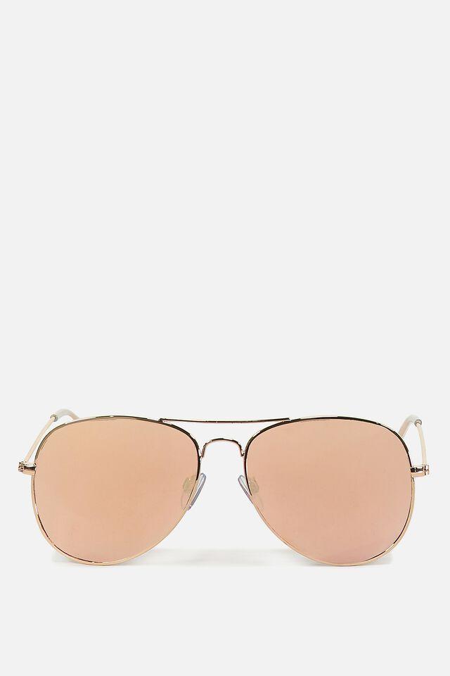 Arabella Metal Sunglasses, ROSE GOLD ROSE GOLD