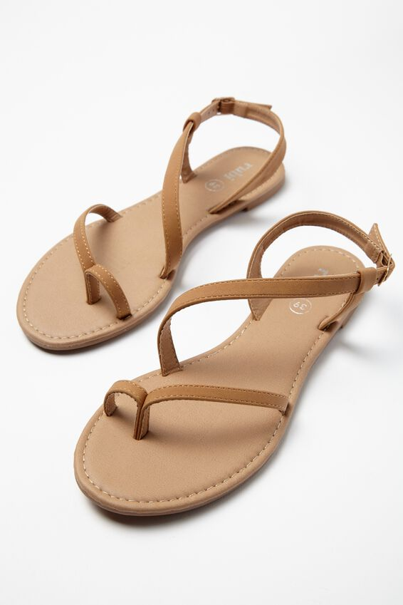 Everyday Annie Asymetric Sandal, TAN PU